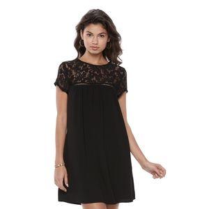 NWoT Speechless Illusion Lace Yoke Shift Dress